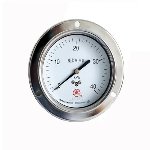 普通膜盒压力表