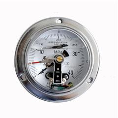 YXC-100軸向帶邊普通電接點壓力表