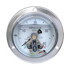 YXC-100-ZⅢ軸向帶邊耐震電接點壓力表