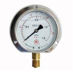 YN-100径向后边耐震压力表