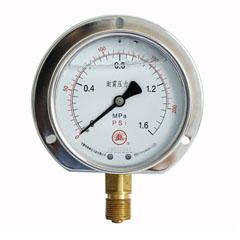 YN-100徑向后邊耐震壓力表