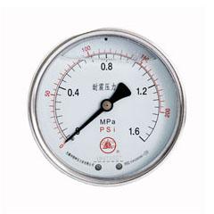 轴向无边耐震压力表